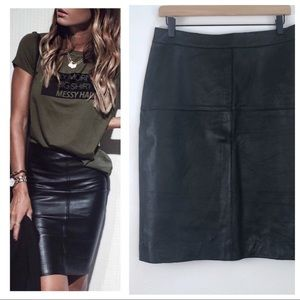 Isaac Mizrahi For Target Black Leather Skirt 10